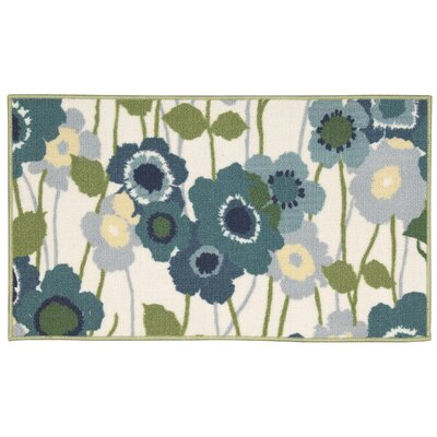 Fancy Free & Easy Pic-A-Poppy Blue/Beige Area Rug Rug Size: Rectangle 110 x 46