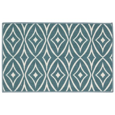 Fancy Free & Easy Centro Aqua Accent Rug Rug Size: Rectangle 26 x 4