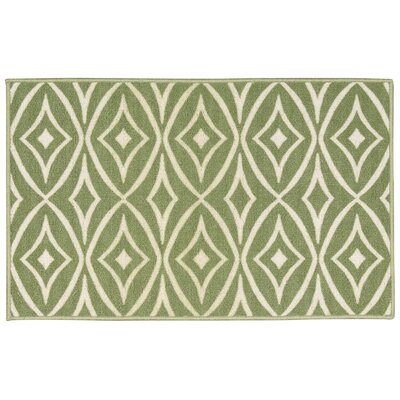 Fancy Free & Easy Centro Green Area Rug Rug Size: Rectangle 110 x 46