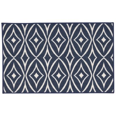 Fancy Free & Easy Centro Navy Area Rug Rug Size: 110 x 46