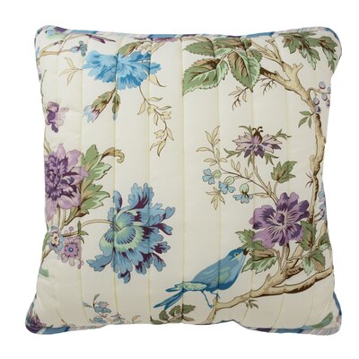 Charleston Chirp Throw Pillow Color: Larkspur