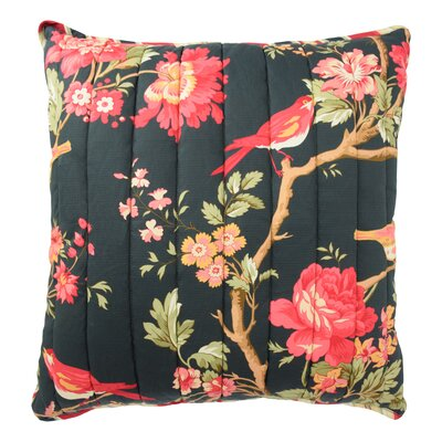 Charleston Chirp Throw Pillow Color: Noir