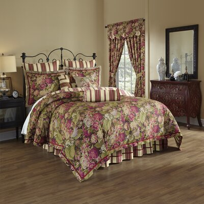 Floral Flourish Cordial 4 Piece Reversible Bedding Set Size: Queen