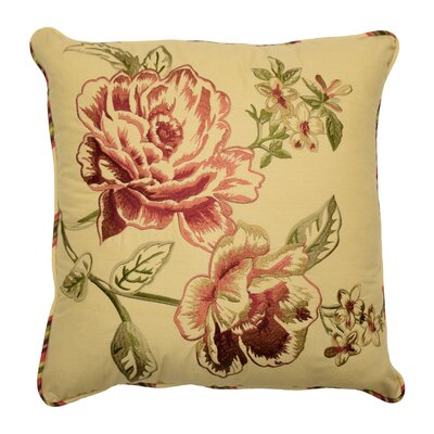 Floral Flourish Cordial Cotton Bolster Pillow