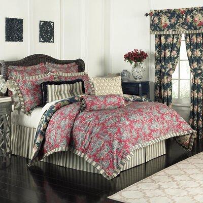 Sanctuary Rose 4 Piece Reversible Bedding Set Size: Queen