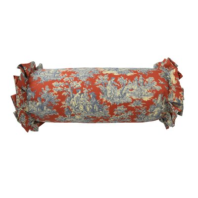 Sanctuary Rose Cotton Toile  Bolster Pillow