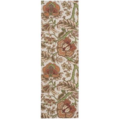 Global Awakening Imperial Dress Brown/Beige Area Rug Rug Size: Runner 26 x 8