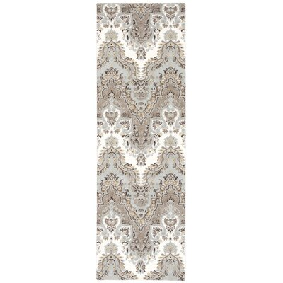 Treasures Palace Sari Brown/Blue Area Rug Rug Size: Runner 26 x 8