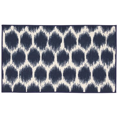 Fancy Free & Easy Seeing Spots Navy Area Rug Rug Size: Rectangle 26 x 4