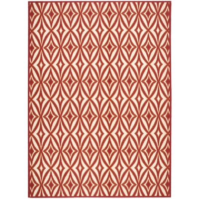 Sun n Shade Centro Red Indoor/Outdoor Area Rug Rug Size: Rectangle 79 x 99