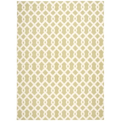 Sun n Shade Ellis Green Indoor/Outdoor Area Rug Rug Size: 79 x 1010