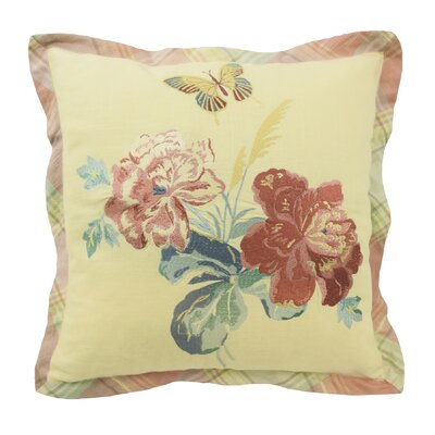 Sonnet Sublime Embroidered Cotton Throw Pillow