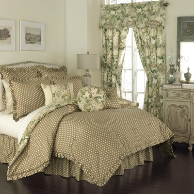 Garden Glory 4 Piece Reversible Comforter Set Size: King