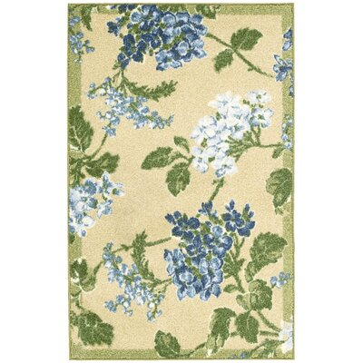 Aura of Flora Rolling Meadow Golden/Green Area Rug