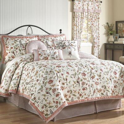 Retweet 4 Piece Reversible Quilt Set Size: Queen