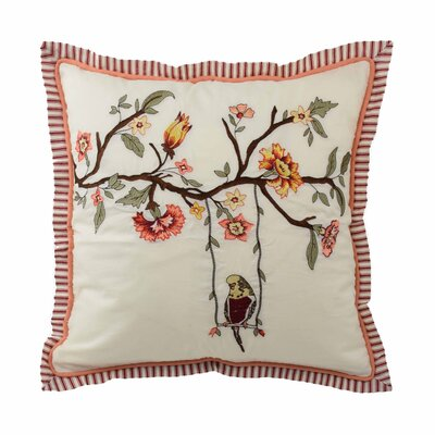 Retweet Embroidered Throw Pillow