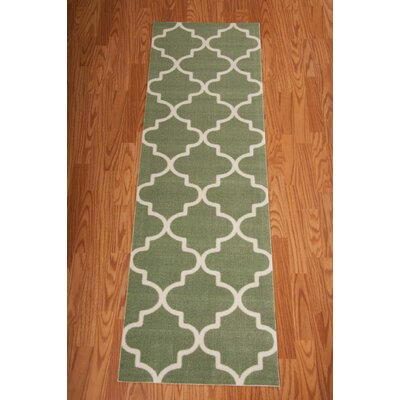 Sun n Shade Moss Indoor/Outdoor Runner Rug