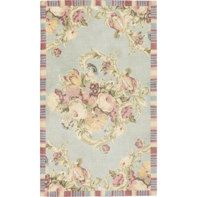 Artisinal Delight Spring Bling-Vapor Light Blue Accent Indoor/Outdoor Area Rug