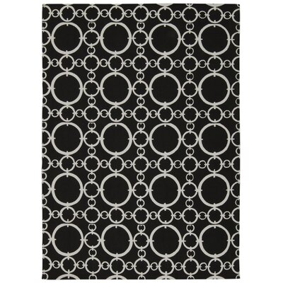 Waverly Art House Connected Black Area Rug Rug Size: 23 x 39