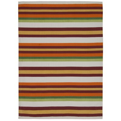 Art House Harmony Orange/Purple Area Rug Rug Size: 23 x 39
