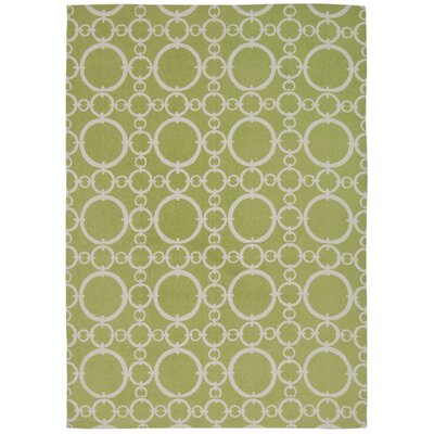Waverly Art House Connected Celery Area Rug Rug Size: 23 x 39