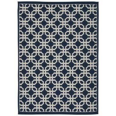Art House Groovy Grille Navy Area Rug Rug Size: Rectangle 23 x 39