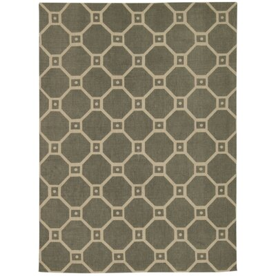 Color Motion Ferris Wheel Stone Area Rug Rug Size: 23 x 39