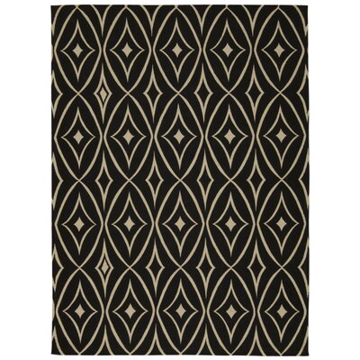 Color Motion Centro Black Area Rug Rug Size: Rectangle 23 x 39