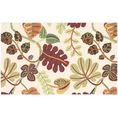 Art House  A New Leaf Ivory Accent Rug