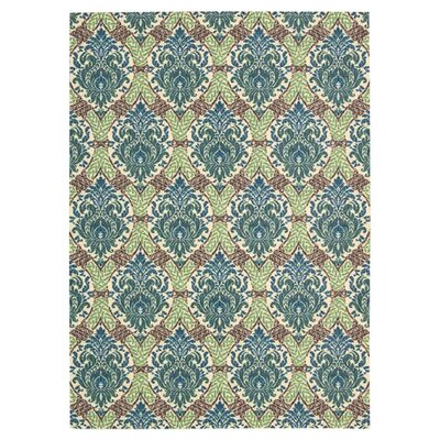Treasures Dress Up Damask Blue Jay Area Rug Rug Size: Rectangle 4 x 6