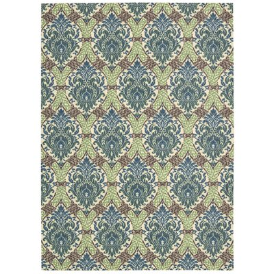 Treasures Dress Up Damask Blue Jay Area Rug Rug Size: 410 x 66