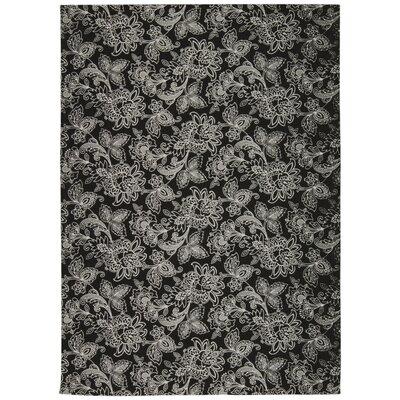 Art House Belinda Black Area Rug Rug Size: 5 x 7