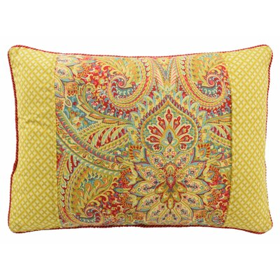 Swept Away Reversible Oblong Decorative Cotton Lumbar Pillow