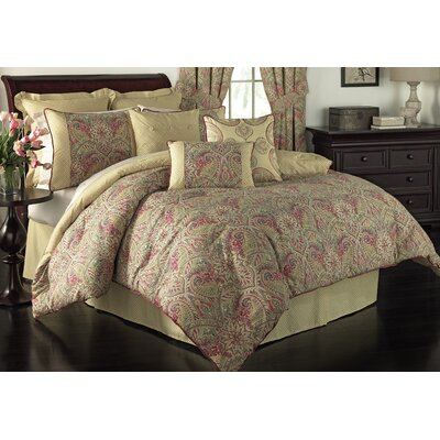 Swept Away 4 Piece Reversible Comforter Set Size: King