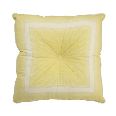 Paisley Verveine Tufted Stripe Throw Pillow