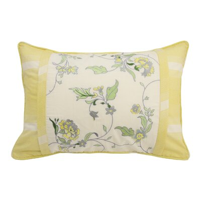 Paisley Verveine Embroidered Lumbar Pillow