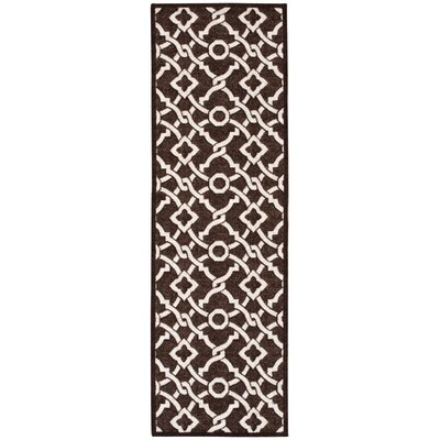 Treasures Artistic Twist Darjeeling Tea Area Rug Rug Size: Runner 26 x 8