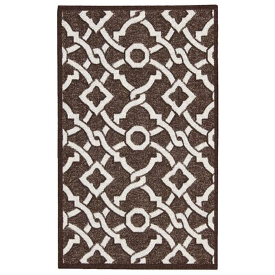 Treasures Artistic Twist Darjeeling Tea Area Rug Rug Size: Rectangle 26 x 4