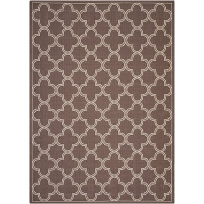 Sun and Shade Indoor/Outdoor Chocolate Area Rug Rug Size: 53 x 75