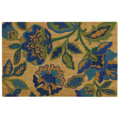 Greetings Katia Work Doormat Rug Size: 16 X 24, Color: Aqua