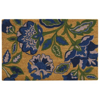 Greetings Katia Work Doormat Rug Size: 2 X 3, Color: Navy