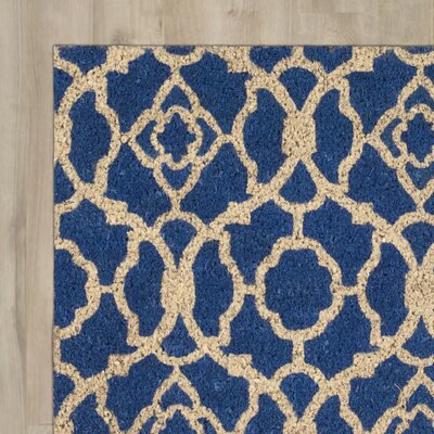 Greetings Lovely Lattice Doormat Mat Size: Rectangle 2 X 3, Color: Ocean