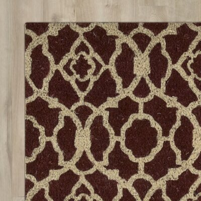 Greetings Lovely Lattice Doormat Mat Size: Rectangle 2 X 3, Color: Rust