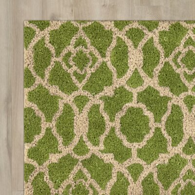 Greetings Lovely Lattice Doormat Rug Size: Rectangle 2' X 3', Color: Garden