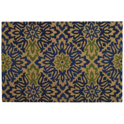 Greetings Sweet Things Doormat Rug Size: Rectangle 2' X 3', Color: Navy
