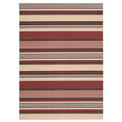 Sun n Shade Red/Brown Indoor/Outdoor Area Rug Rug Size: 66 x 96