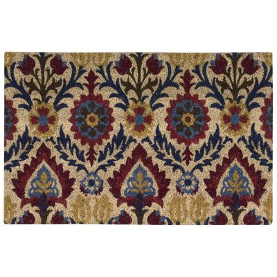 Greetings Santa Marie Doormat Rug Size: 2 X 3, Color: Red