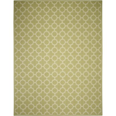 Sun and Shade Indoor/Outdoor Green Area Rug Rug Size: 53 x 75