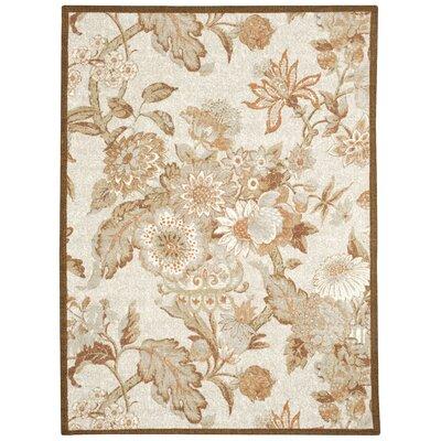 Waverly Treasures Graceful Garden Stone Area Rug Rug Size: Rectangle 16 x 26