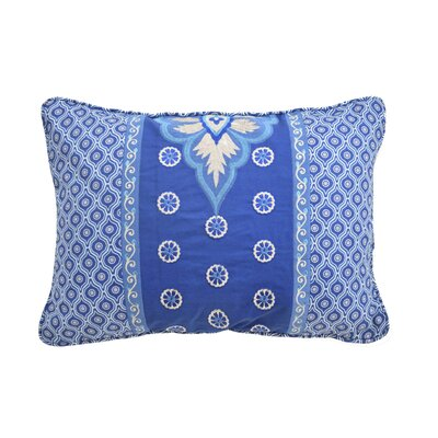 Moonlit Shadows Embroidered and Pieced Decorative Cotton Lumbar Pillow